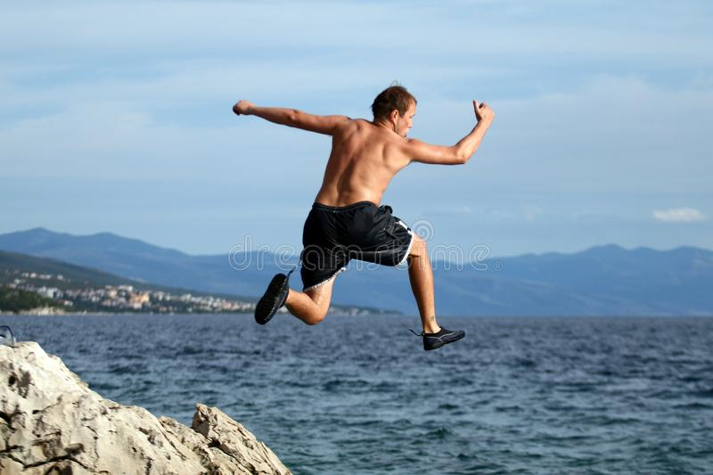 Let'S Jump royalty free stock photos