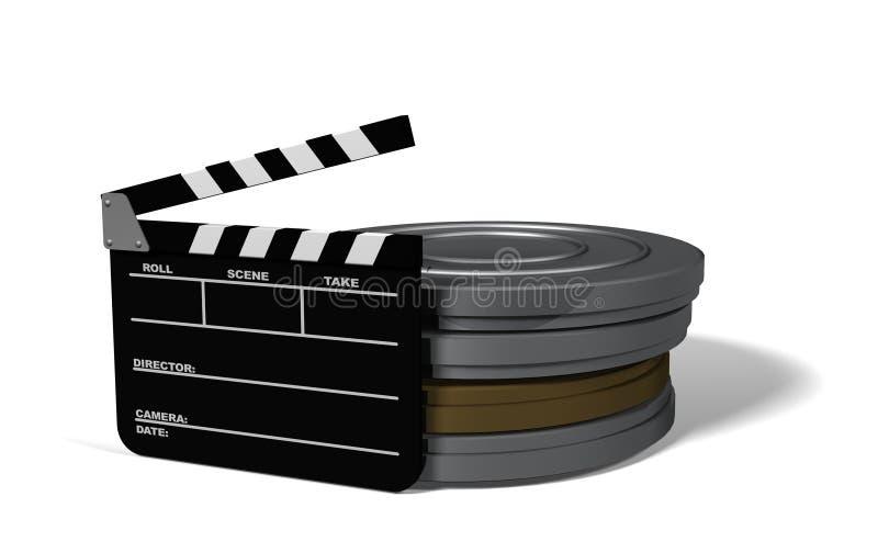 Let's Make a Movie stock illustration
