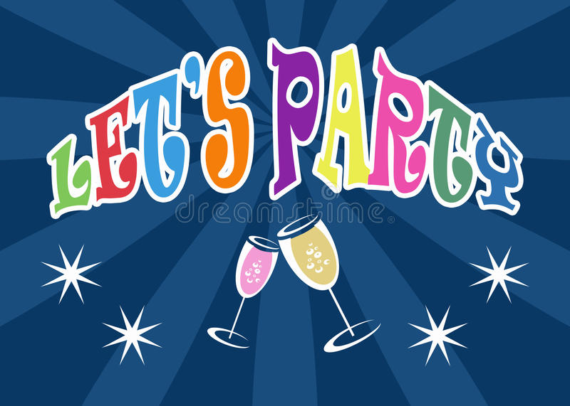 Let S Party Stock Photo