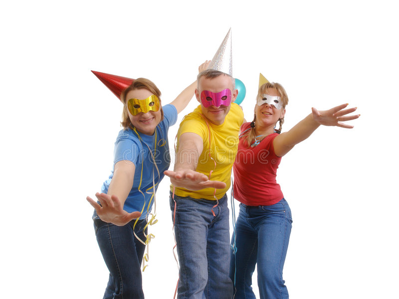 Let's party royalty free stock photo