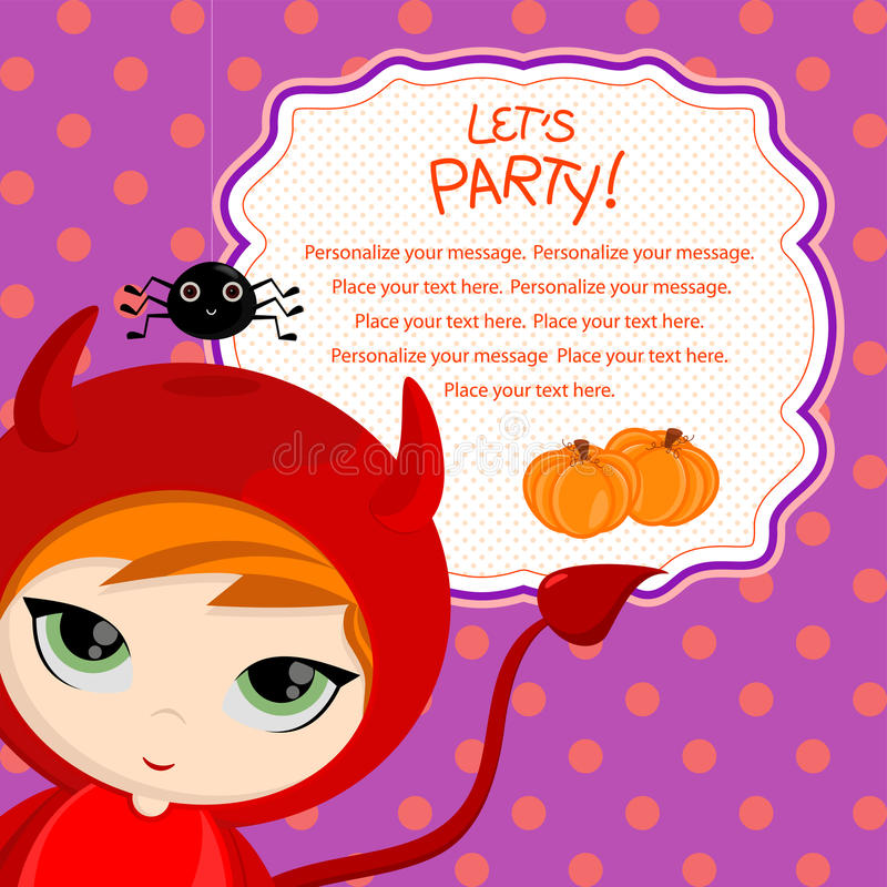 Let's party_devil stock illustration