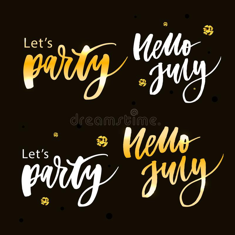 Let's party. Inspirational vector Hand drawn typography poster. T shirt calligraphic design vector illustration