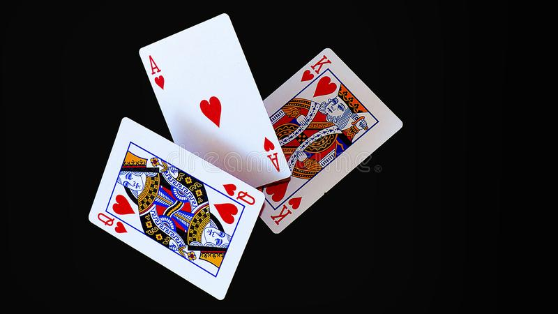 Let`s play cards stock images