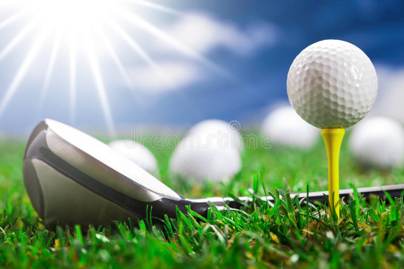 Download Let's play a round! stock image. Image of course, golfing - 27895119