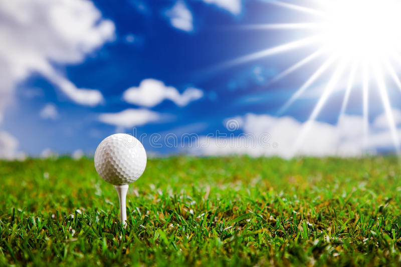 Let's play a round of golf in sunny day! stock images