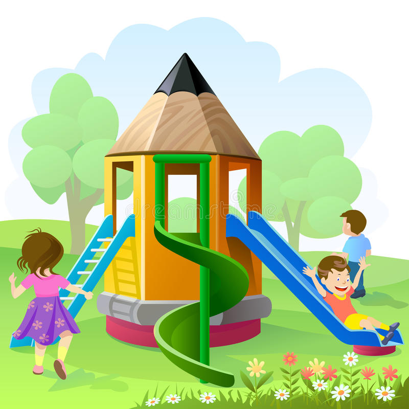 Playground Drawing Illustrations