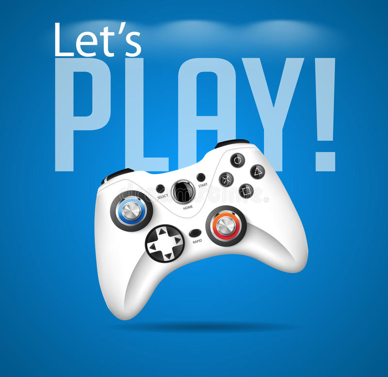 Let's play. Video game concept stock illustration