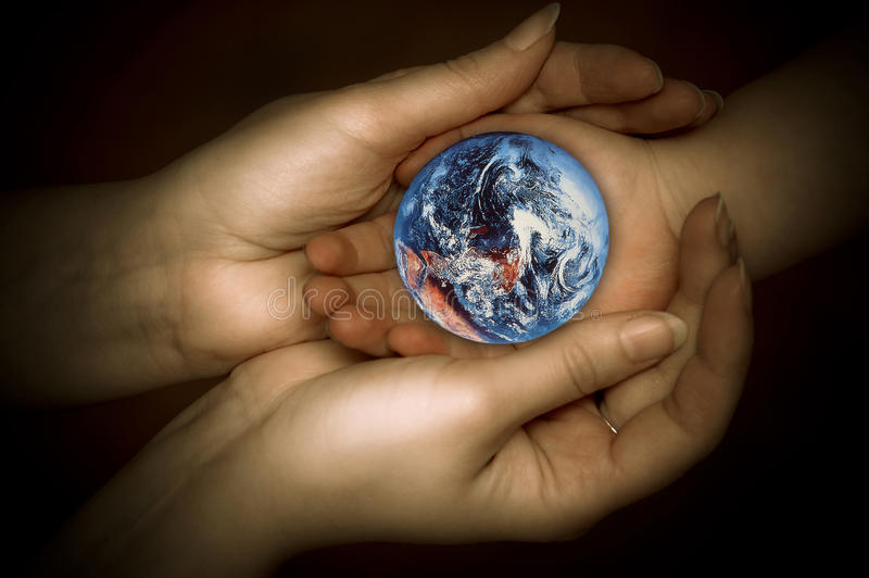 Let´s protect Earth royalty free stock photo