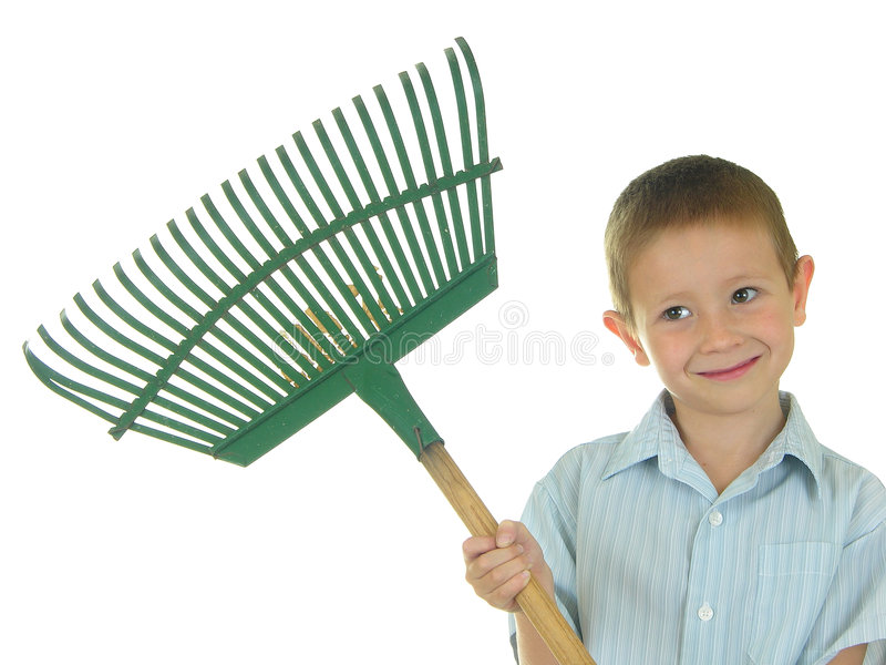 Let's Rake Some Leaves royalty free stock photography