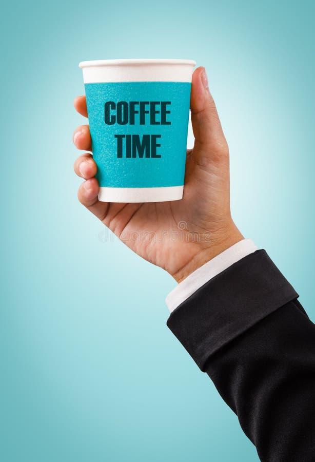 Let`s take a coffee break concept. stock photo