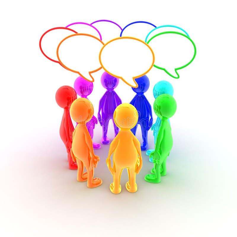Download Let's talk businees stock illustration. Image of brainstorming - 7070320