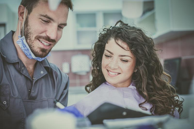 Let we see when is your next visit to dentist. stock images