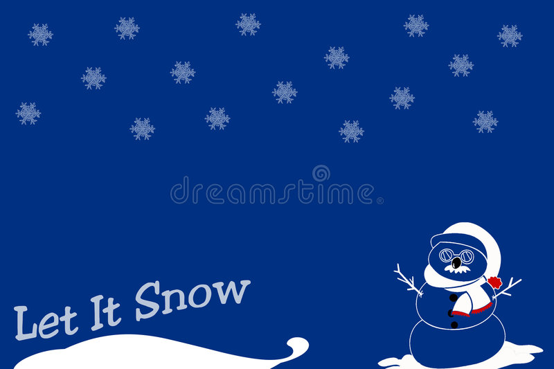 Download Let it Snow stock illustration. Image of chilly, snowflakes - 3784647