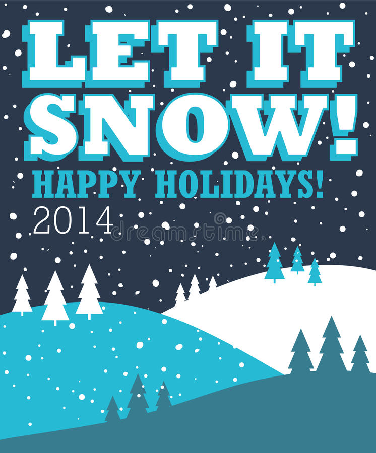 Let it snow christmas background stock photo image