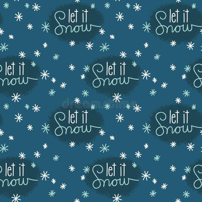Download Let It Snow Snowflakes Seamless Pattern Stock Vector - Illustration: 28403859