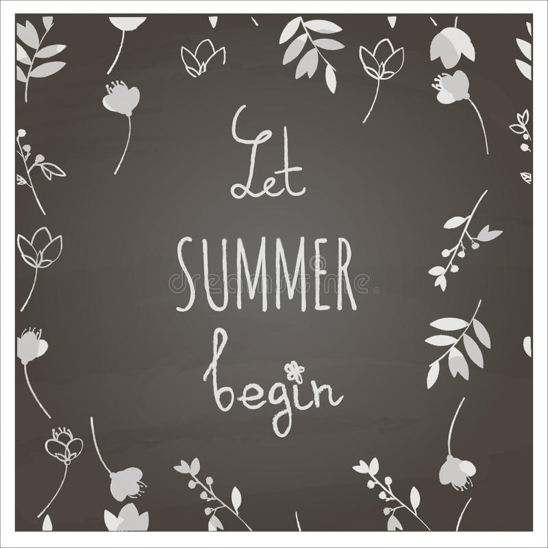 Let summer begin stock photography