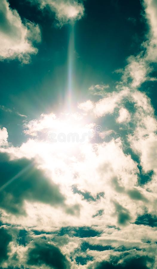 Let the sun shine royalty free stock photography