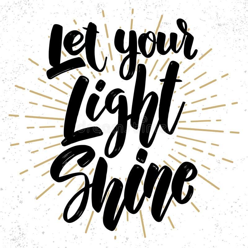 Let your light shine stock illustration. Illustration of ...