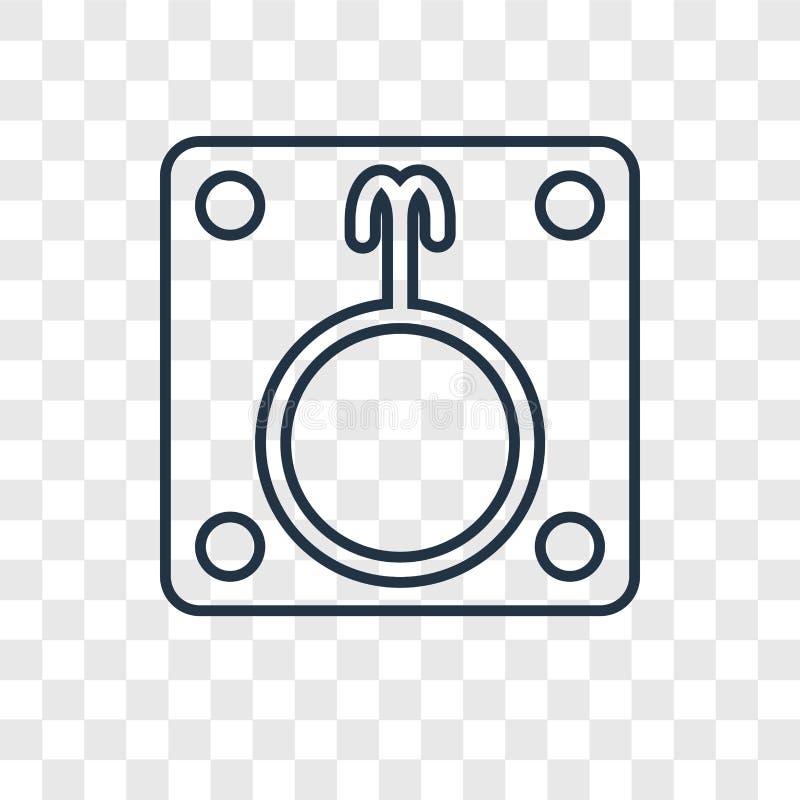 Letargu pojęcia wektorowa liniowa ikona odizolowywająca na przejrzystym plecy royalty ilustracja