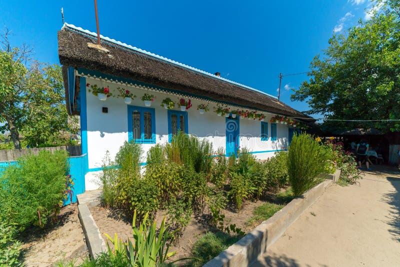 Letea, Danube Delta, Romania, August 2017: Old Traditional House stock photo