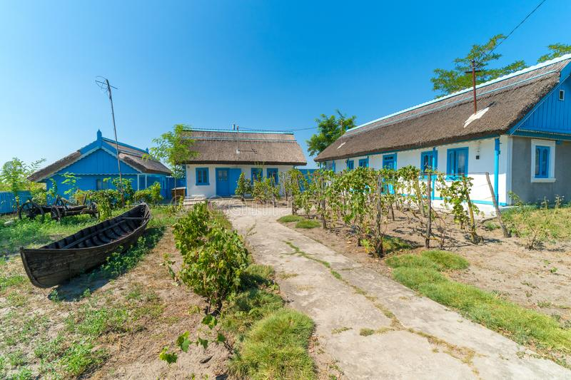 Letea, Danube Delta, Romania, August 2017: Traditional House in royalty free stock images