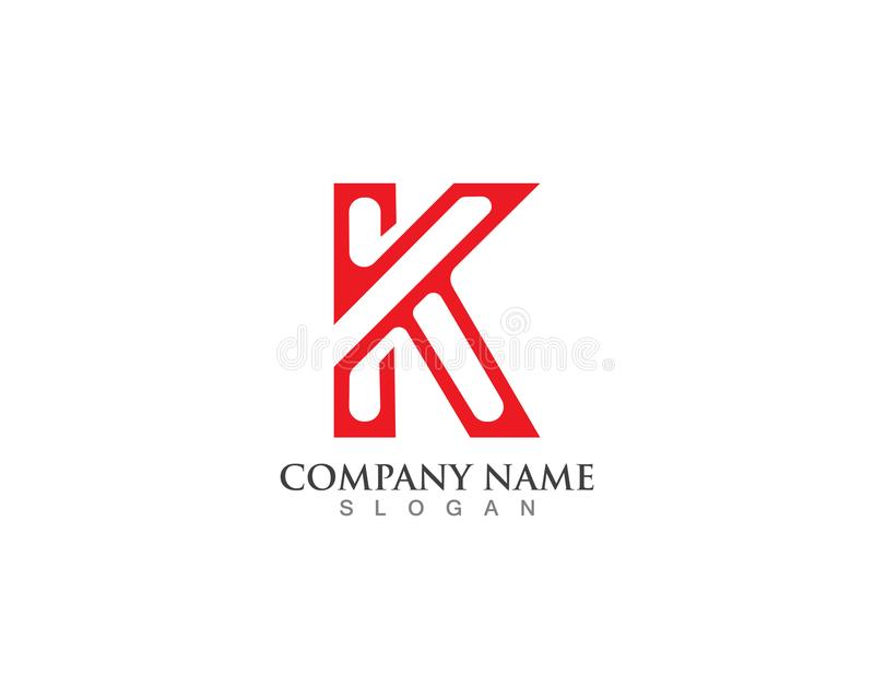 Leter K vector icons and logos template design royalty free illustration