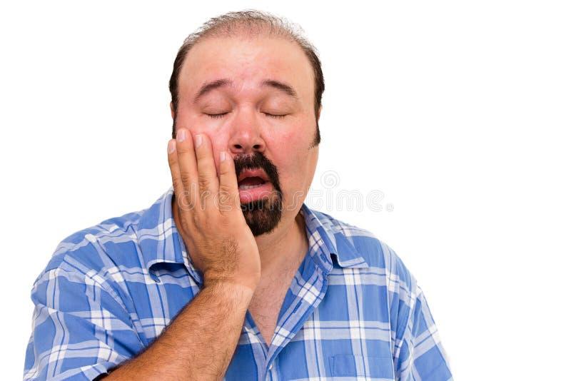 Lethargic lazy man stock images