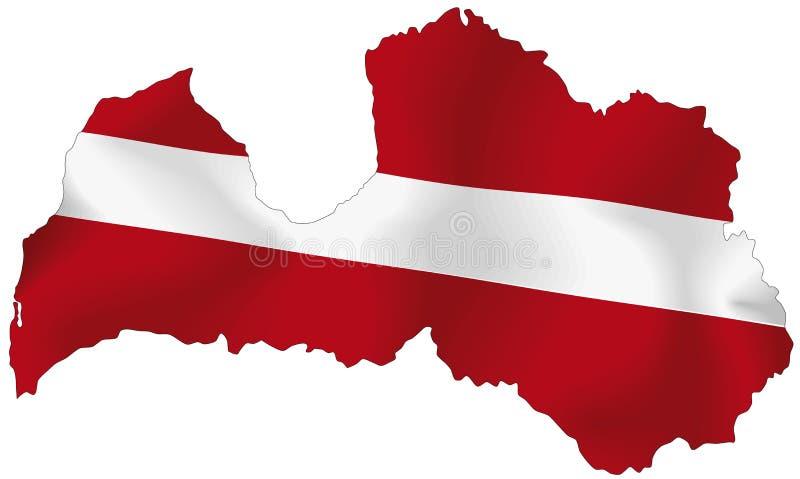 Letland vector illustratie
