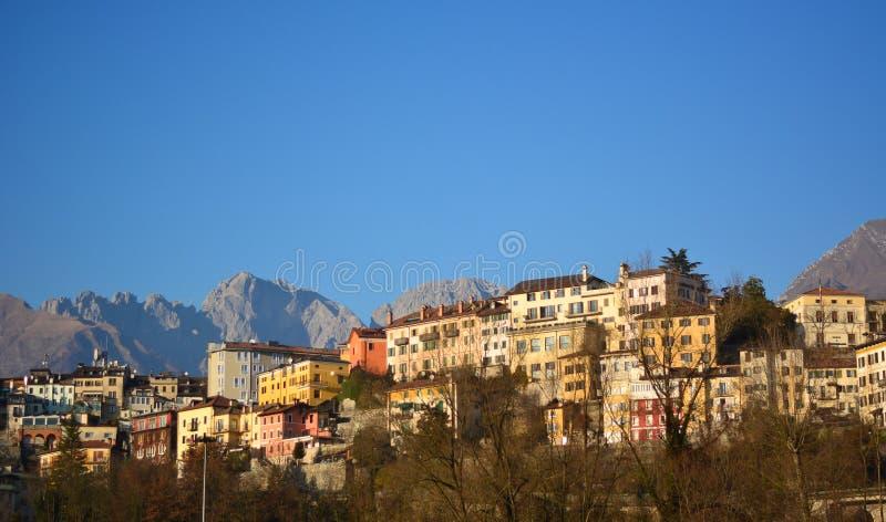 Letni dzień w Belluno, Włochy zdjęcie royalty free