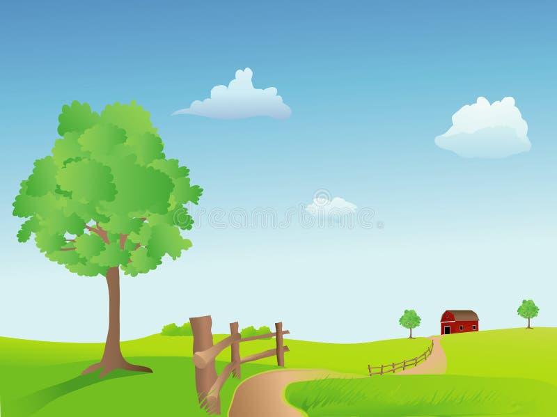letnie pastwiska royalty ilustracja
