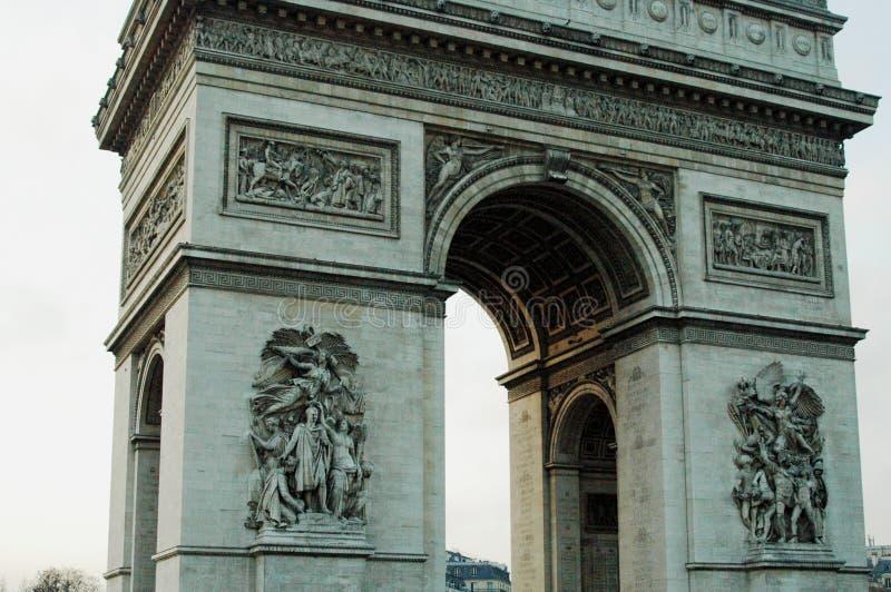 LEtoile Arc de Triomphe DE, Parijs, Frankrijk stock afbeelding