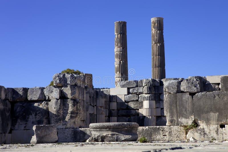 Letoon Leto圣所在古老Lycian市Xanthos附近的 火鸡 图库摄影