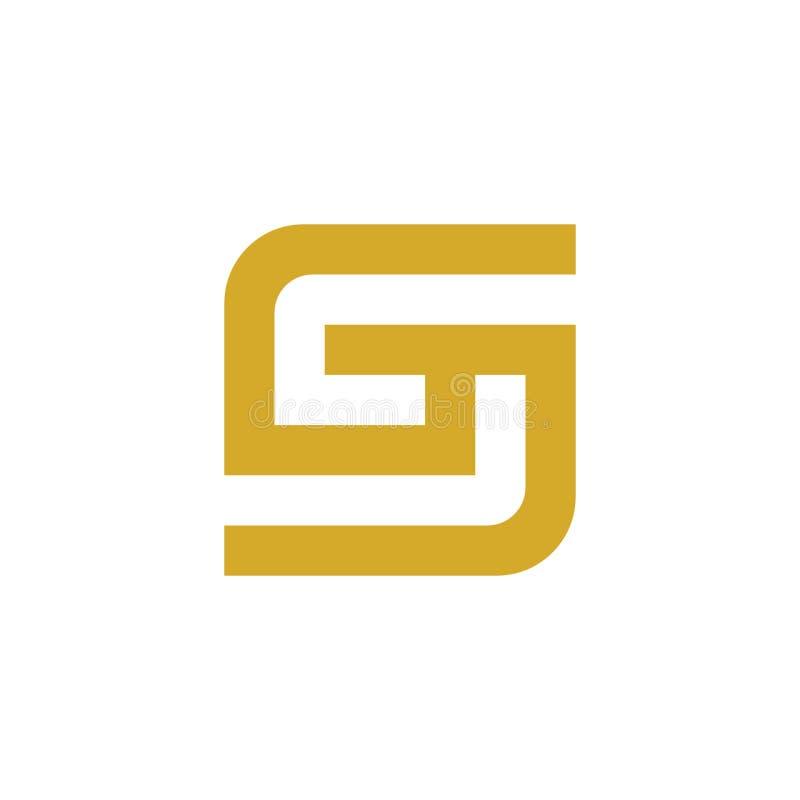 Letra única S Logo Template, icono del vector, monograma simple stock de ilustración