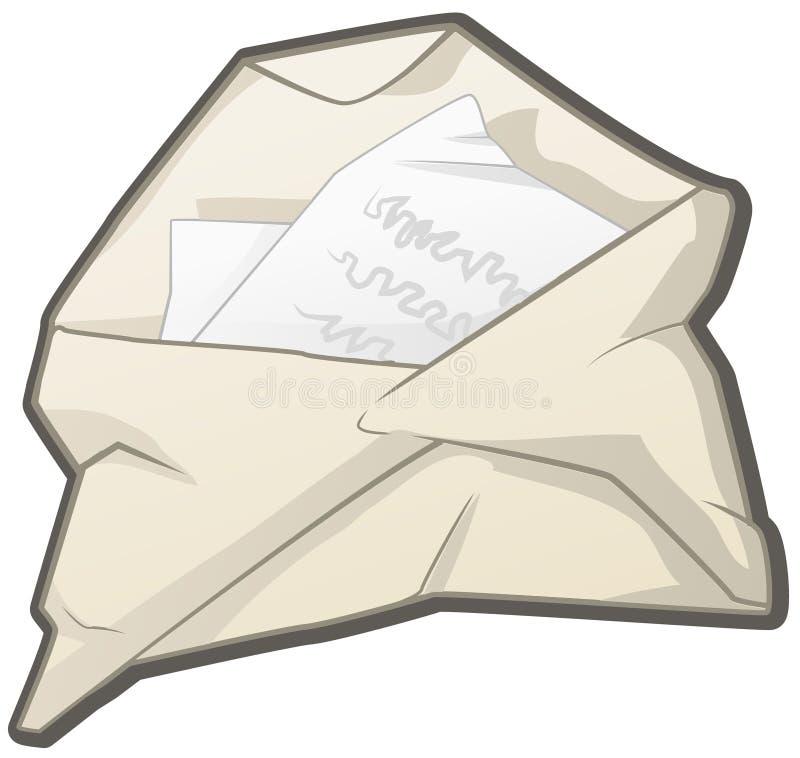 Letra aberta amarrotada ilustração royalty free