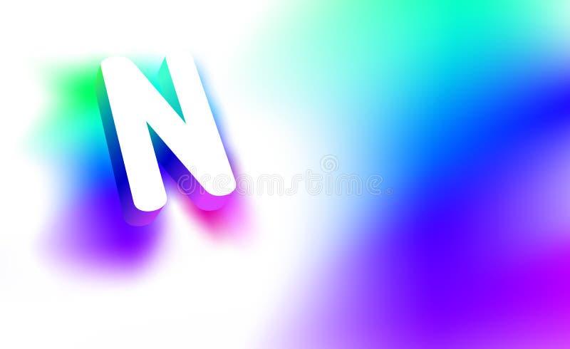 Letra abstracta N Plantilla de la identidad corporativa del logotipo creativo del resplandor 3D de la compañía o de la letra N de libre illustration