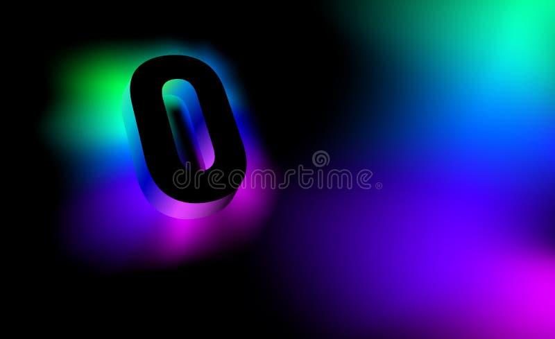 Letra abstracta O Estilo corporativo del resplandor del logotipo creativo del modelo 3D de la compañía o de la marca O Extracto d ilustración del vector
