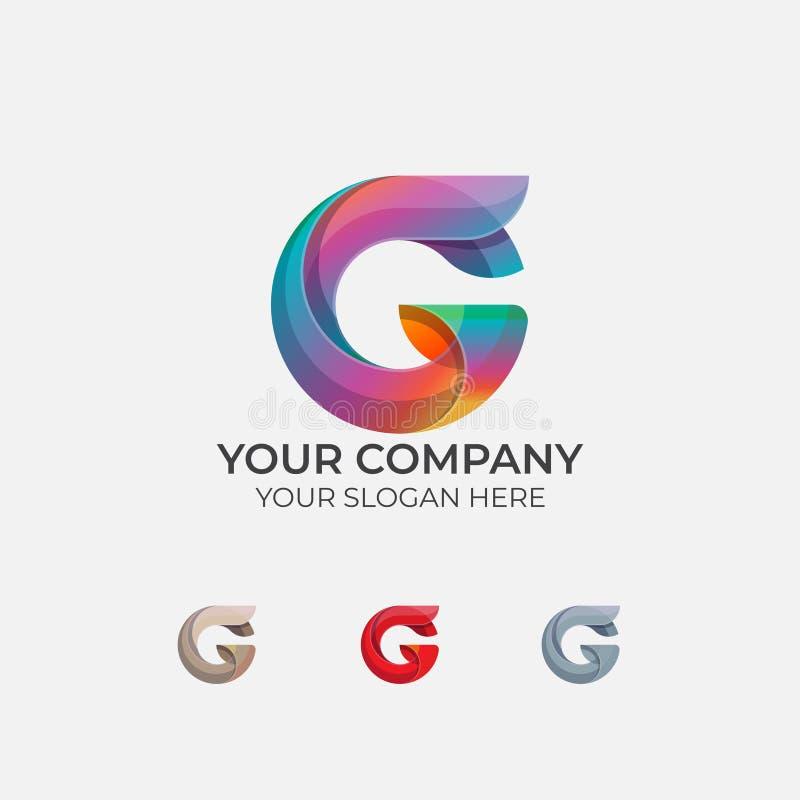 Letra abstrata G Logo Design ilustração do vetor