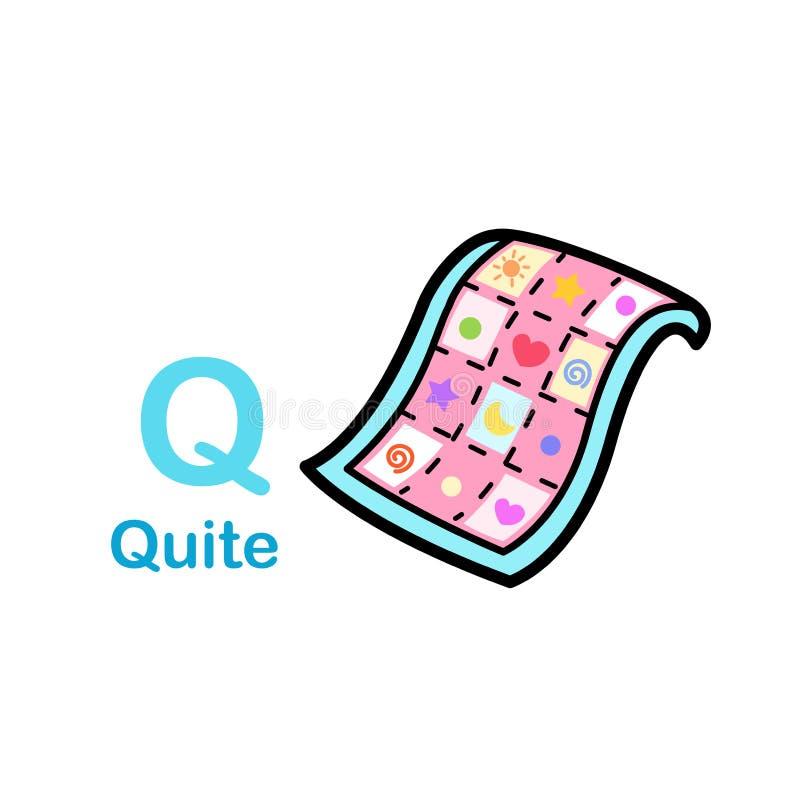 Letra alfabeta Q-Bastante stock de ilustración