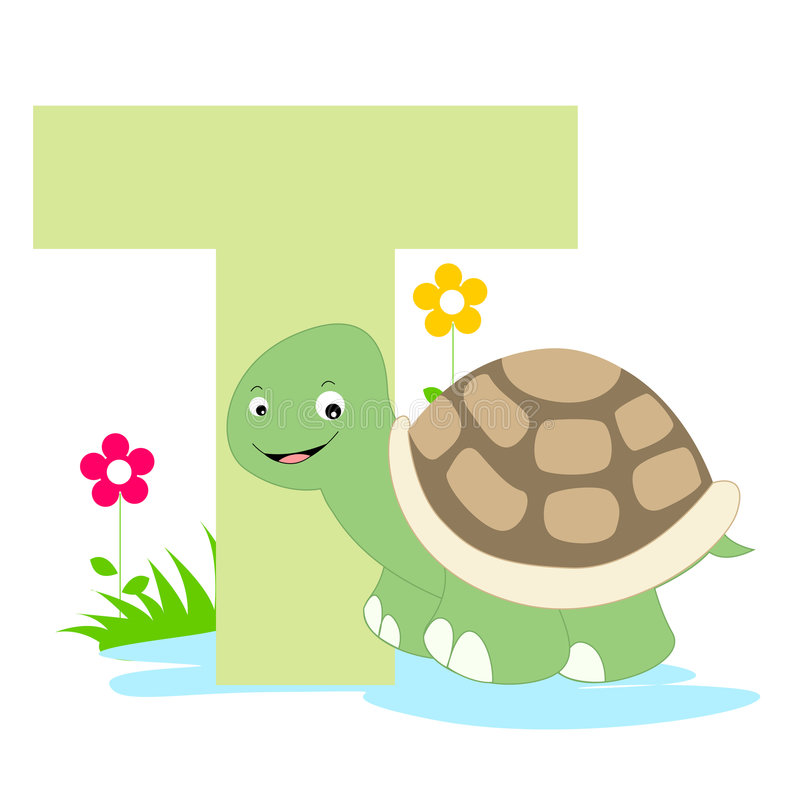 Letra animal do alfabeto - T ilustração royalty free