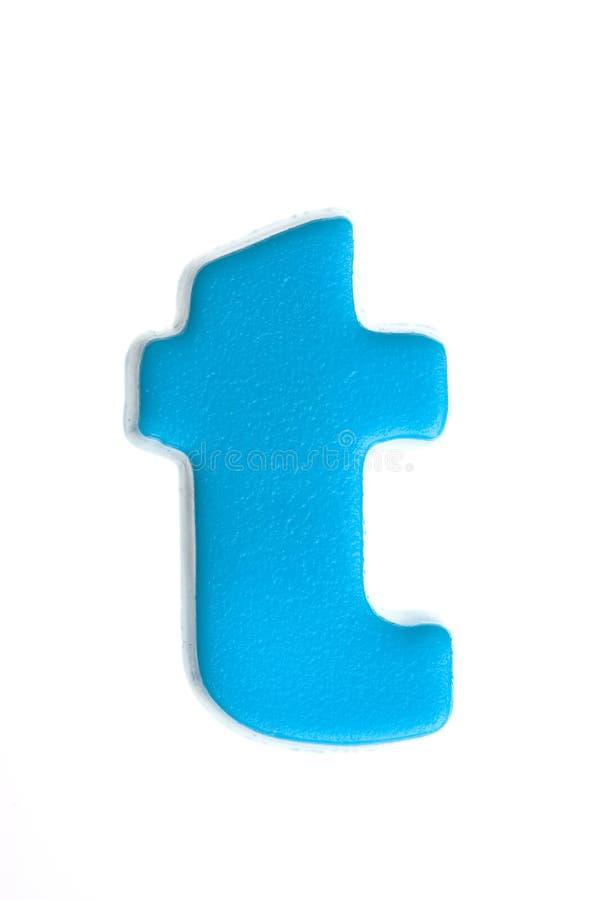 Letra azul t imágenes de archivo libres de regalías