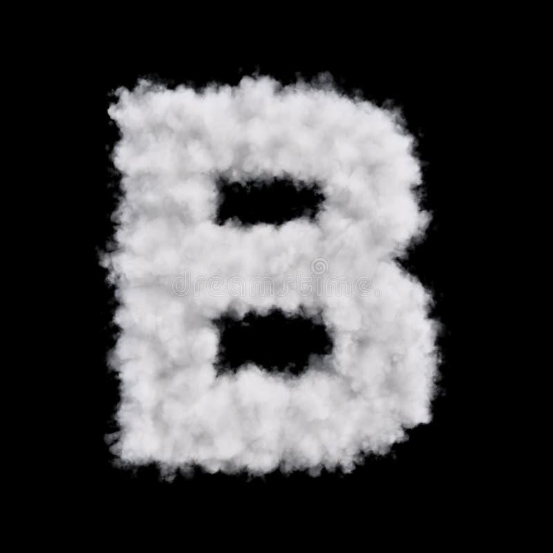 Letra B de la nube libre illustration