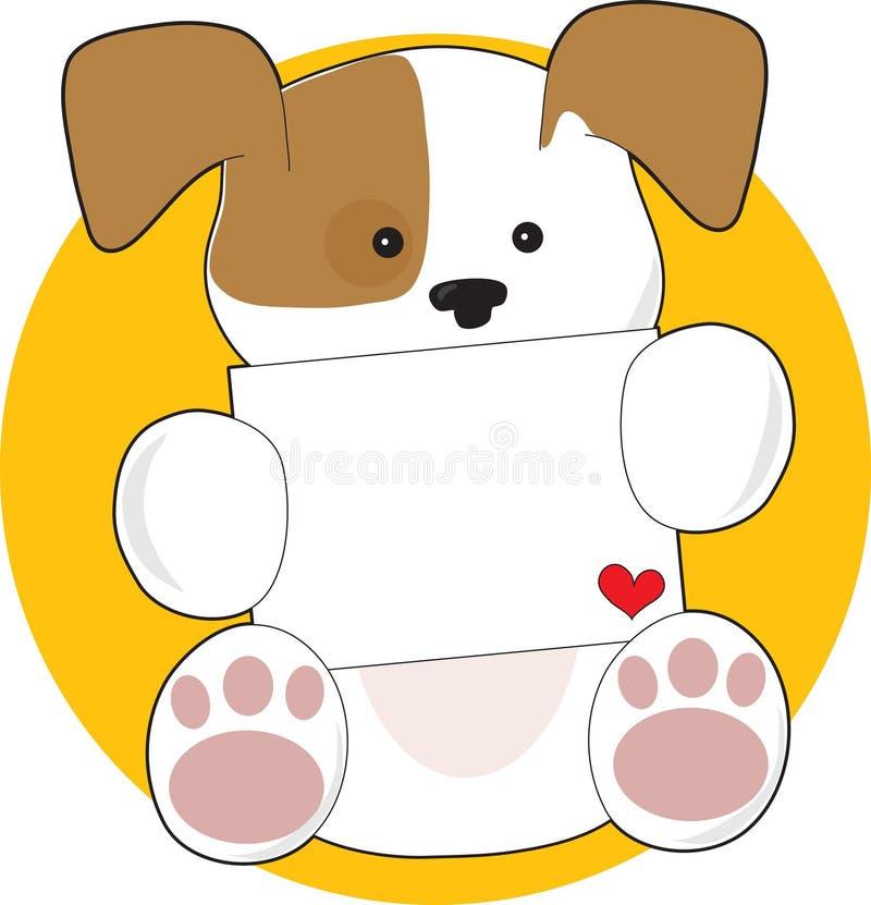 Letra bonito do filhote de cachorro ilustração royalty free