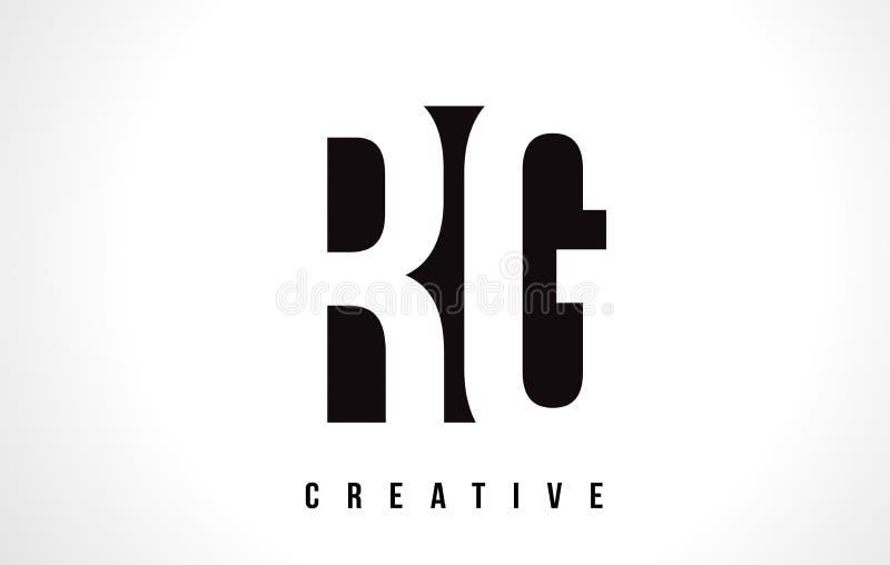 Letra branca Logo Design de RG R G com quadrado preto ilustração stock