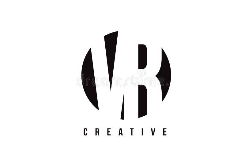 Letra branca Logo Design de VR V R com fundo do círculo ilustração do vetor