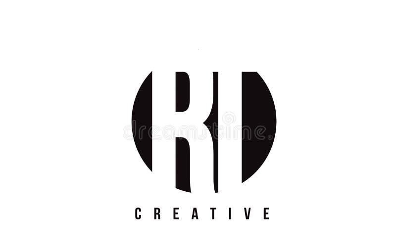 Letra branca Logo Design do RT R T com fundo do círculo ilustração do vetor
