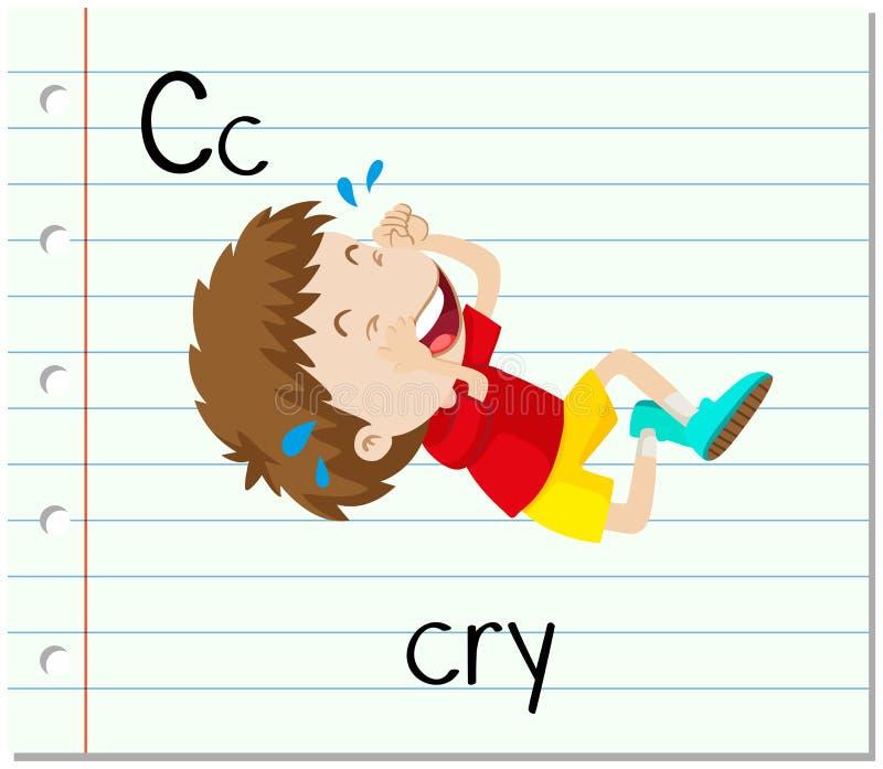 A letra C de Flashcard é para o grito ilustração do vetor