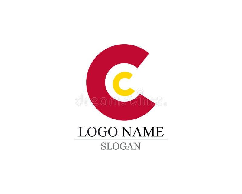 Letra C Logo Template Design Vector ilustración del vector