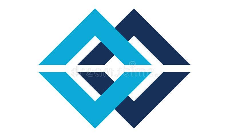 Letra C, logotipo moderno do centímetro cúbico ilustração royalty free
