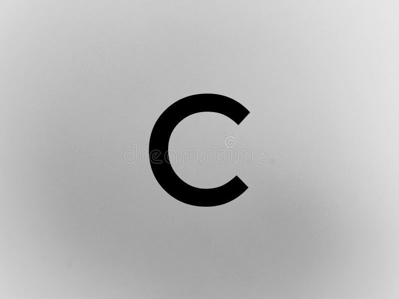 A letra c na cor preta imagem de stock
