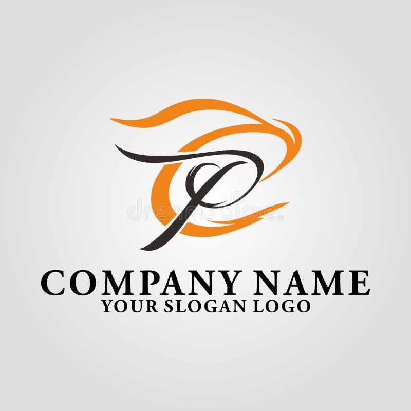 letra c y p stock de ilustración
